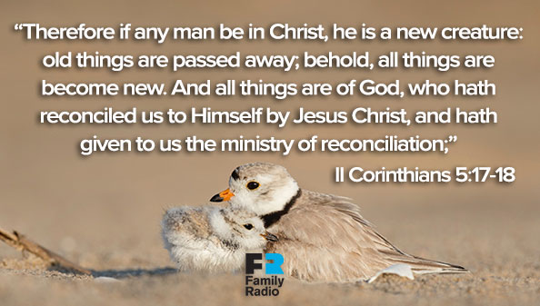 Therefore if any man be in Christ, he is a new creature: old things are passed away; behold, all things are become new. And all things are of God, who hath reconciled us to Himself by Jesus Christ, and hath given to us the ministry of reconciliation.