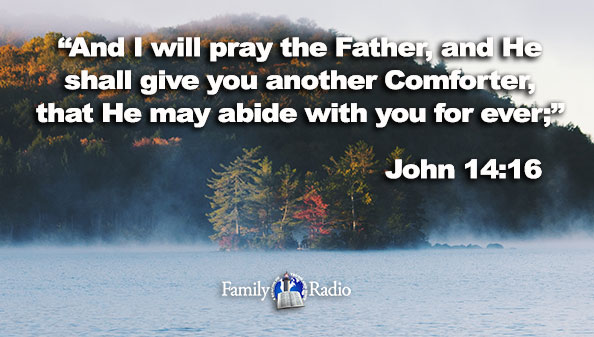 And I will pray the Father, and He shall give you another Comforter, that He may abide with you for ever.