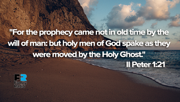 For the prophecy came not in old time by the will of man: but holy men of God spake as they were moved by the Holy Ghost.