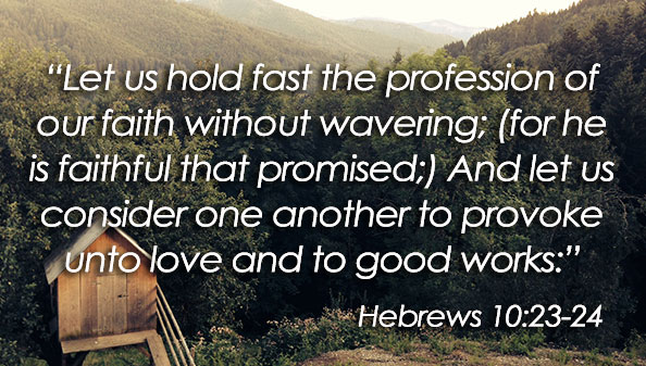 Let us hold fast the profession of our faith without wavering; (for he is faithful that promised;) And let us consider one another to provoke unto love and to good works.
