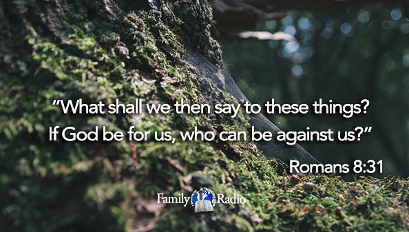 What shall we then say to these things? If God be for us, who can be against us?""