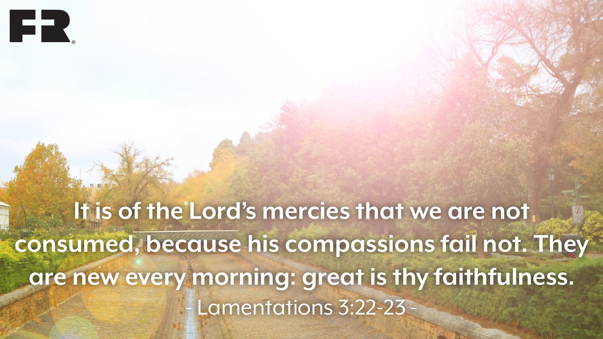 """It is of the LORD'S mercies that we are not consumed, 